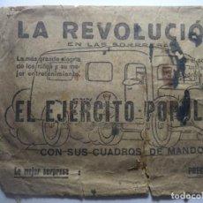 Militaria: LA REVOLUCION EN LAS SORPRESAS// PODREIS FORMAR EL EJERCITO POPULAR// ORIGINALGUERRA CIVIL. Lote 189780532