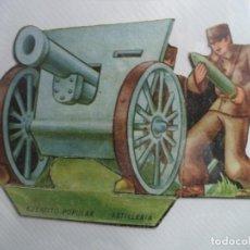 Militaria: EJERCITO POPULAR ARTILLERIA ORIGINAL GUERRA CIVIL SALIAN EN SOBRES SORPRESA O COMO OBSEQUIO. Lote 189826591