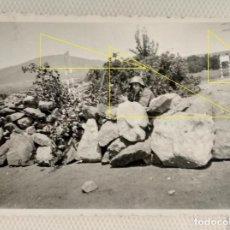 Militaria: FOTO FRENTE NORTE LEGION CONDOR GUERRA CIVIL BARRICADA. Lote 189991025