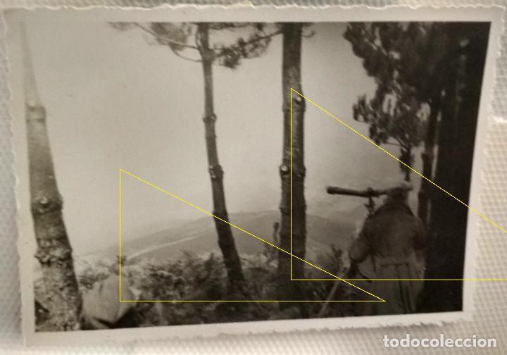 FOTO FRENTE NORTE LEGION CONDOR GUERRA CIVIL EUSKADI 1937 TELEMETRO COINCIDENCIA ARTILLERIA (Militar - Fotografía Militar - Guerra Civil Española)