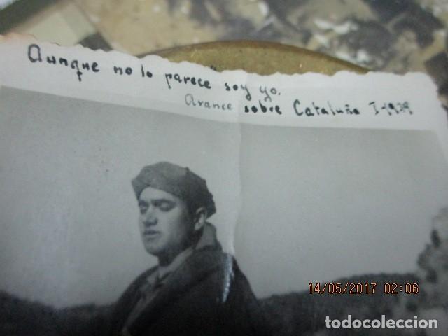 Militaria: AVANCE SOBRE CATALUÑA EN GUERRA CIVIL I- 1939 IMPORTANTE OFICIAL DE LEGION CON TUNICA REGULAR - Foto 3 - 190039296
