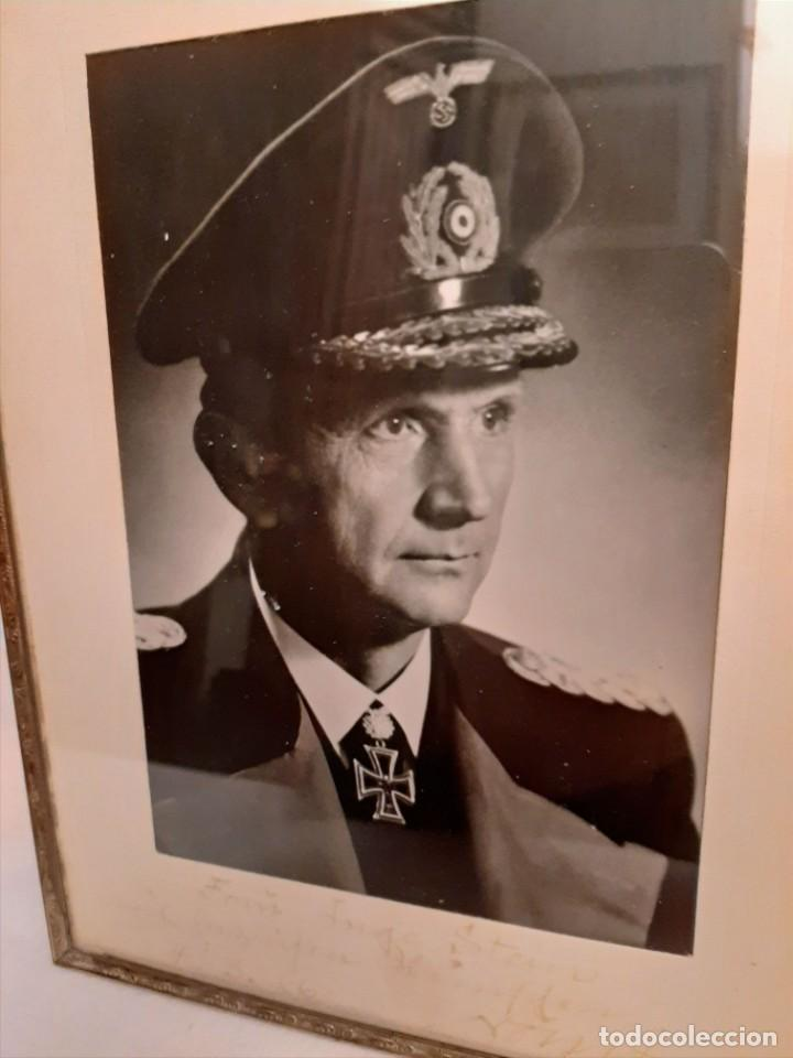 FOTOGRAFIA DE DOENITZ DEDICADA A MANO Y FIRMADA. (Militar - Fotografía Militar - II Guerra Mundial)