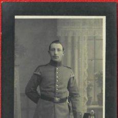 Militaria: ORIGINAL - FOTOGRAFÍA POSTAL SOLDADO. I GUERRA MUNDIAL. ALEMANIA - EJERCITO IMPERIAL - 135 X 85 MM -. Lote 190400848