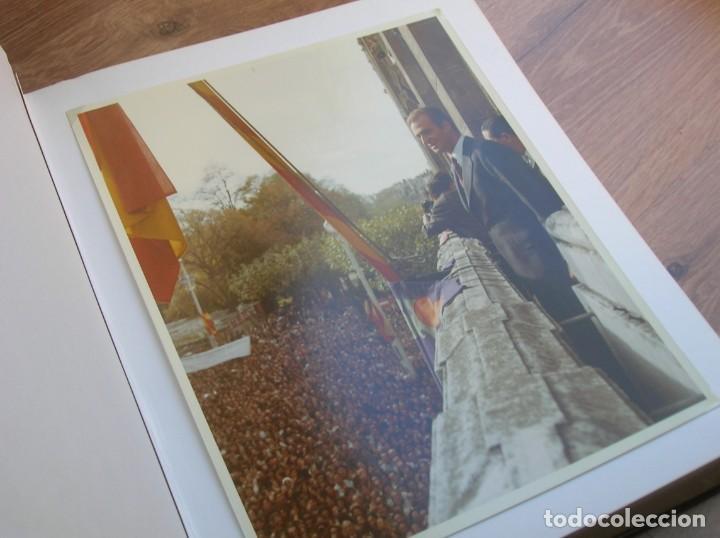 EXCEPCIONAL DOCUMENTO HISTORICO. VISITA DEL ENTONCES PRINCIPE DON JUAN CARLOS A BURGOS. (Militar - Fotografía Militar - Otros)