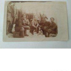 Militaria: ANTIGUA FOTO MILITAR DE I GUERRA MUNDIAL DE SOLDADOS RUSOS HECHA EN CAMPO DE BATALLA 23 II 1918 ORIG. Lote 190507487