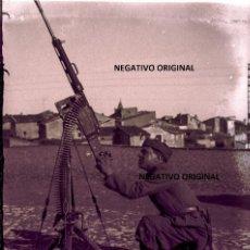 Militaria: NEGATIVO SOLDADO FIAMME NERE TARAZONA(ZARAGOZA) BUENISIMA GUERRA CIVIL. Lote 190555381