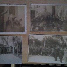 Militaria: LOTE DE 4 FOTOS DE FALANGE AÑOS 1951-2 CON BRAZO EN ALTO EN ACTOS . Lote 190636063