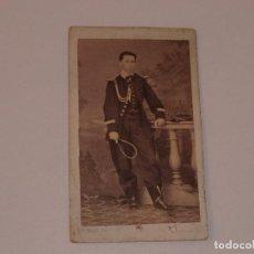 Militaria: ANTIGUA FOTO DE MILITAR. FOTOGRAFO A. CUIARD, BILBAO . SIGLO XIX . 10 X 6 CM. Lote 190689030