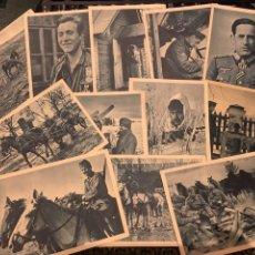 Militaria: CONJUNTO 12 POSTALES DIVISION AZUL COLECCION COMPLETA FALTA CARRETILLA.. Lote 190859597