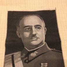Militaria: FOTO EN SEDA DE FRANCO DE LOS AÑOS 40.. Lote 190904176