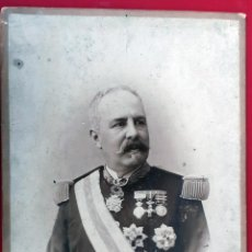 Militaria: GRAN FOTOGRAFIA FOTO ALBUMINA MILITAR J. SELLIER CORUÑA GRANDE CARTON ORIGINAL , FM7. Lote 191181875