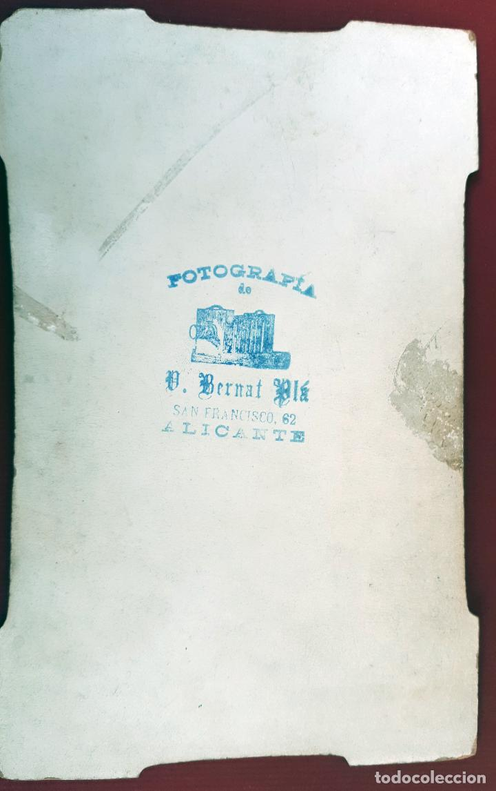 Militaria: GRAN FOTOGRAFIA FOTO ALBUMINA MILITAR GUARDIA CIVIL BERNATA PLA ALICANTE CARTON ORIGINAL , FM7 - Foto 2 - 191182745