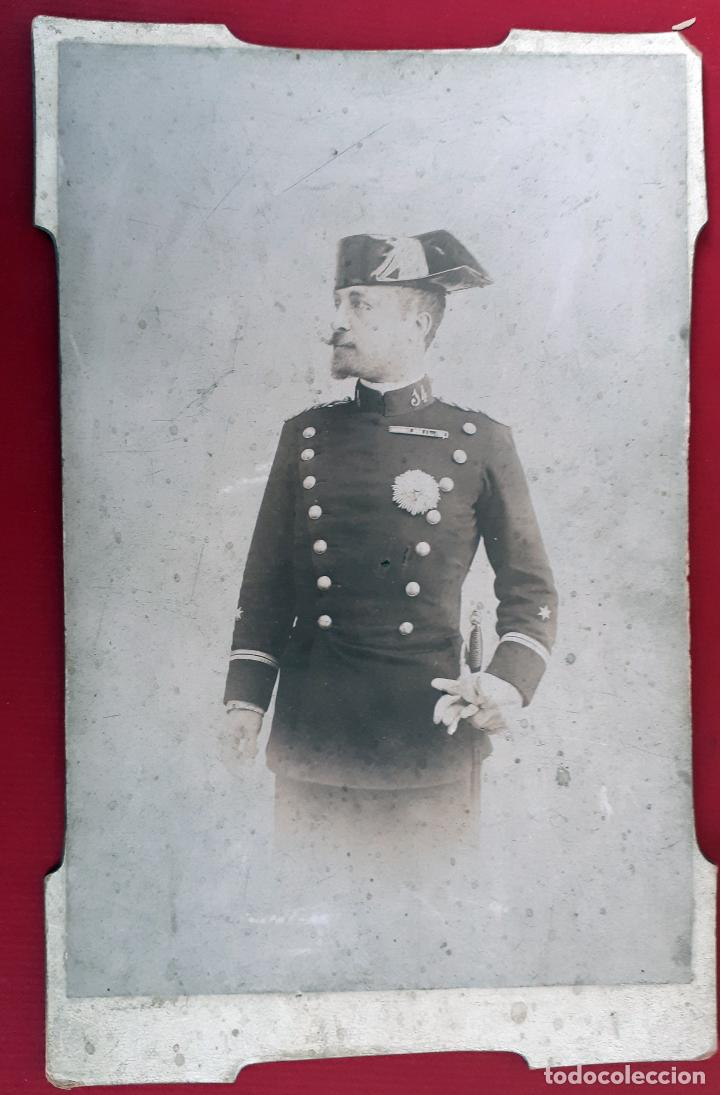 GRAN FOTOGRAFIA FOTO ALBUMINA MILITAR GUARDIA CIVIL BERNATA PLA ALICANTE CARTON ORIGINAL , FM7 (Militar - Fotografía Militar - Otros)