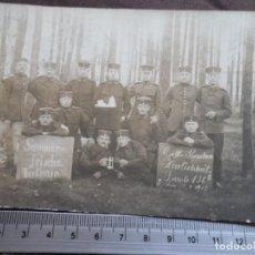 Militaria: SOLDADOS PRUSIANOS POSTAL ESCRITA. Lote 191292352