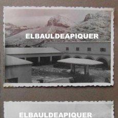 Militaria: 2 FOTOS DEL CUARTEL DE POLLENSA NEVADO. MALLORCA AÑO 1956. 9 X 6 CM. Lote 191353417
