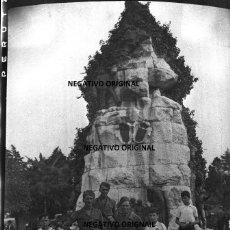Militaria: NEGATIVO SANTANDER MONUMENTO LA MONTAÑA PEREDA SOLDADOS CTV FIAMME NERE FRENTE NORTE GUERRA CIVIL. Lote 191373690