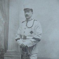 Militaria: FOTOGRAFÍA CABO ARTILLERÍA DEL EJÉRCITO ESPAÑOL. MADRID 1913. Lote 191385553