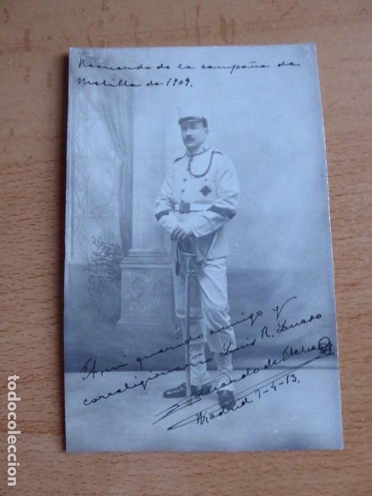 Militaria: Fotografía cabo artillería del ejército español. Madrid 1913 - Foto 2 - 191385553