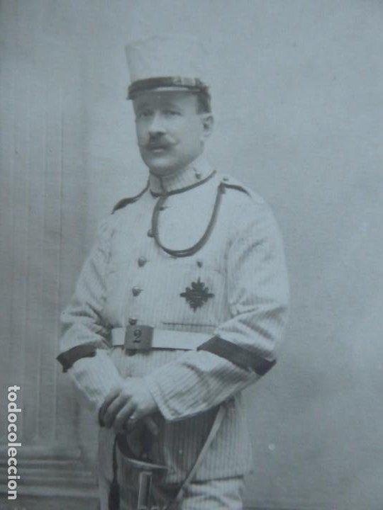 Militaria: Fotografía cabo artillería del ejército español. Madrid 1913 - Foto 3 - 191385553