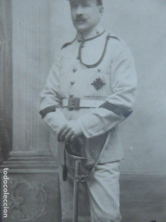 Militaria: Fotografía cabo artillería del ejército español. Madrid 1913 - Foto 4 - 191385553
