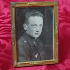 Militaria: ORIGINAL - FOTOGRAFÍA ENMARCADA SOLDADO ALEMÁN - WEHRMACHT - HEER - III REICH - II GUERRA MUNDIAL - . Lote 191585097