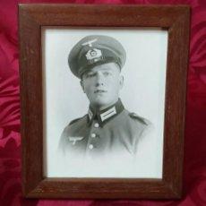 Militaria: ORIGINAL - FOTOGRAFÍA ENMARCADA SOLDADO ALEMÁN - WEHRMACHT - HEER - III REICH - II GUERRA MUNDIAL - . Lote 191585332