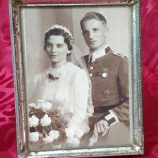Militaria: ORIGINAL - FOTOGRAFÍA ENMARCADA SOLDADO ALEMÁN - WEHRMACHT - HEER - III REICH - II GUERRA MUNDIAL - . Lote 191585542