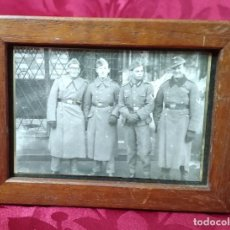 Militaria: ORIGINAL - FOTOGRAFÍA ENMARCADA SOLDADO ALEMÁN - WEHRMACHT - HEER - III REICH - II GUERRA MUNDIAL - . Lote 191585692