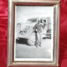 Militaria: ORIGINAL - FOTOGRAFÍA ENMARCADA SOLDADO ALEMÁN - AFRIKA KORPS - III REICH - II GUERRA MUNDIAL - . Lote 191585896