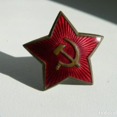 Militaria: URSS AUTENTICA ESTRELLA DE GORRO DE EJERCITO ROJO DE LA 2ª GUERRA MUNDIAL MOD.1/1939. Lote 191655611