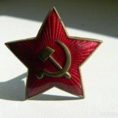 Militaria: URSS AUTENTICA ESTRELLA DE GORRO DE EJERCITO ROJO DE LA 2ª GUERRA MUNDIAL MOD.2/1939. Lote 191655826