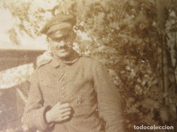 Militaria: FOTOGRAFIA DE UN MILITAR ALEMÁN CON LA CRUZ DE HIERRO - Foto 2 - 191675087