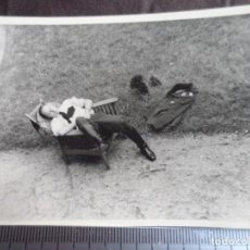 Militaria: OFICIAL LUFTWAFFE ECHANDO LA SIESTA. Lote 191831377