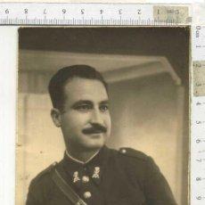 Militaria: FOTOGRAFÍA RETRATO MILITAR DE INFANTERÍA DE MARINA CON GORRA Y ESCARAPELA NACIONAL. Lote 191836432