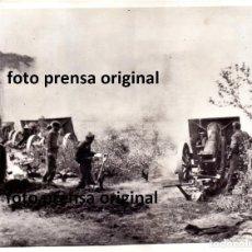 Militaria: ARTILLERIA GENERAL FRANCO RUMBO BARCELONA FRENTE CATALUÑA 1939 GUERRA CIVIL. Lote 191838395