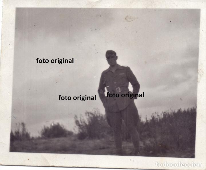 OFICIAL CTV ITALIANO FRENTE ARAGON 1937 PLENA GUERRA CIVIL (Militar - Fotografía Militar - Guerra Civil Española)
