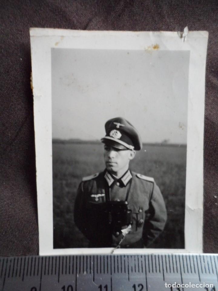 OFICIAL WEHRMACHT CON PRISMATICOS (Militar - Fotografía Militar - II Guerra Mundial)