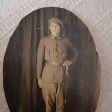 Militaria: SOLDADO BALLONETA LARGA GUERRA CIVIL ESPAÑOLA FOTO POSTAL RECORTADA PARA MARCO. Lote 192356508