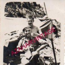 Militaria: GUERRA CIVIL, SOLDADOS EL FRENTE DE CASTELLON, 60X85 MM. Lote 192449283