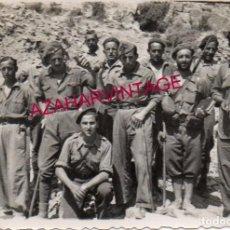 Militaria: GUERRA CIVIL, SOLDADOS EL FRENTE DE CASTELLON, 88X60 MM. Lote 192492162