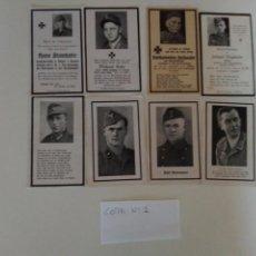 Militaria: LOTE DE ESQUELAS CARTAS DE LA MUERTE, ALEMANAS 2 GUERRA MUNDIAL 100% ORIGINALES Nº1. Lote 192795976