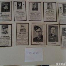 Militaria: LOTE DE ESQUELAS CARTAS DE LA MUERTE, ALEMANAS 2 GUERRA MUNDIAL 100% ORIGINALES Nº2. Lote 192796097