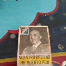 Militaria: RARISIMA CAJA CERILLAS GUERRA CIVIL FRANCO Y PRIMO RIVERA. Lote 192797517