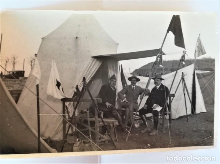 Militaria: BOY SCOUTS,EXPLORADORES DE BARCELONA,FOTOGRAFIA ORIGINAL POSIBLEMENTE BADEN POWELL,AÑO 20 CAMPAMENTO - Foto 4 - 192817231