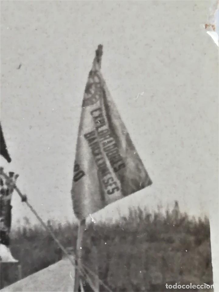 Militaria: BOY SCOUTS,EXPLORADORES DE BARCELONA,FOTOGRAFIA ORIGINAL POSIBLEMENTE BADEN POWELL,AÑO 20 CAMPAMENTO - Foto 5 - 192817231