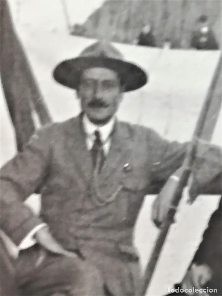 Militaria: BOY SCOUTS,EXPLORADORES DE BARCELONA,FOTOGRAFIA ORIGINAL POSIBLEMENTE BADEN POWELL,AÑO 20 CAMPAMENTO - Foto 7 - 192817231