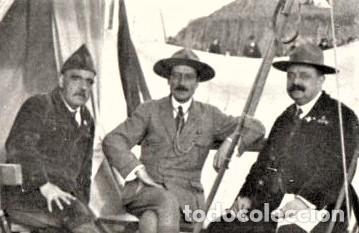 Militaria: BOY SCOUTS,EXPLORADORES DE BARCELONA,FOTOGRAFIA ORIGINAL POSIBLEMENTE BADEN POWELL,AÑO 20 CAMPAMENTO - Foto 2 - 192817231