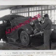 Militaria: AÑOS 40, CUARTEL EJERCITO DEL SUR, AUTOMOVILISMO, COCHE ACCIDENTADO, 128X178MM. Lote 193212160