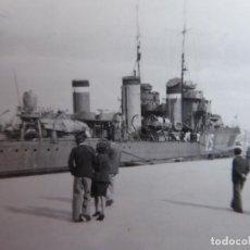 Militaria: FOTOGRAFÍA DESTRUCTOR ALMIRANTE VALDÉS VS. ARMADA. Lote 193374336