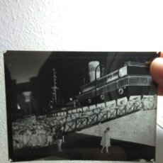 Militaria: NEGATIVO FOTOGRAFICO ANTIGUO EMBARQUE DE TROPAS ALFONSO XIII ,GUERRA DE AFRICA. Lote 193392130